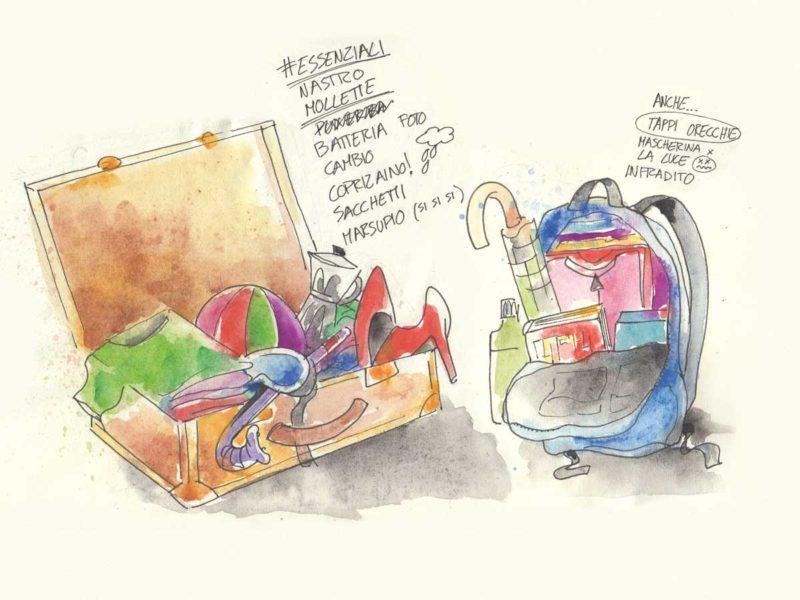 10 cose da mettere in valigia - Illustrazione di Luca Braidotti