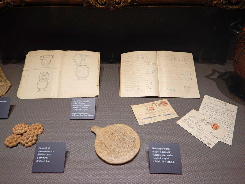 Appunti e reperti antichi esposti al Museo del Castello di Udine