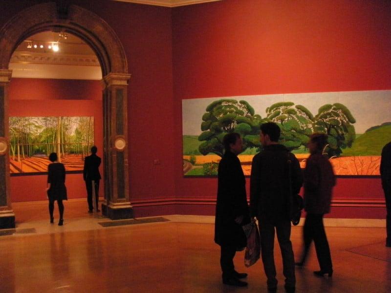 David Hockney Ausstellung in der Royal Academy of Arts in London, Januar 2012