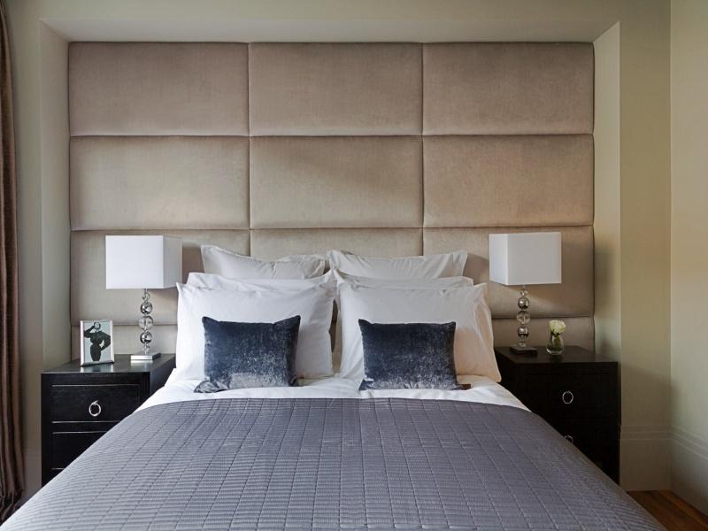 Beige Upholstered Wall Panel - London Headboards Battersea