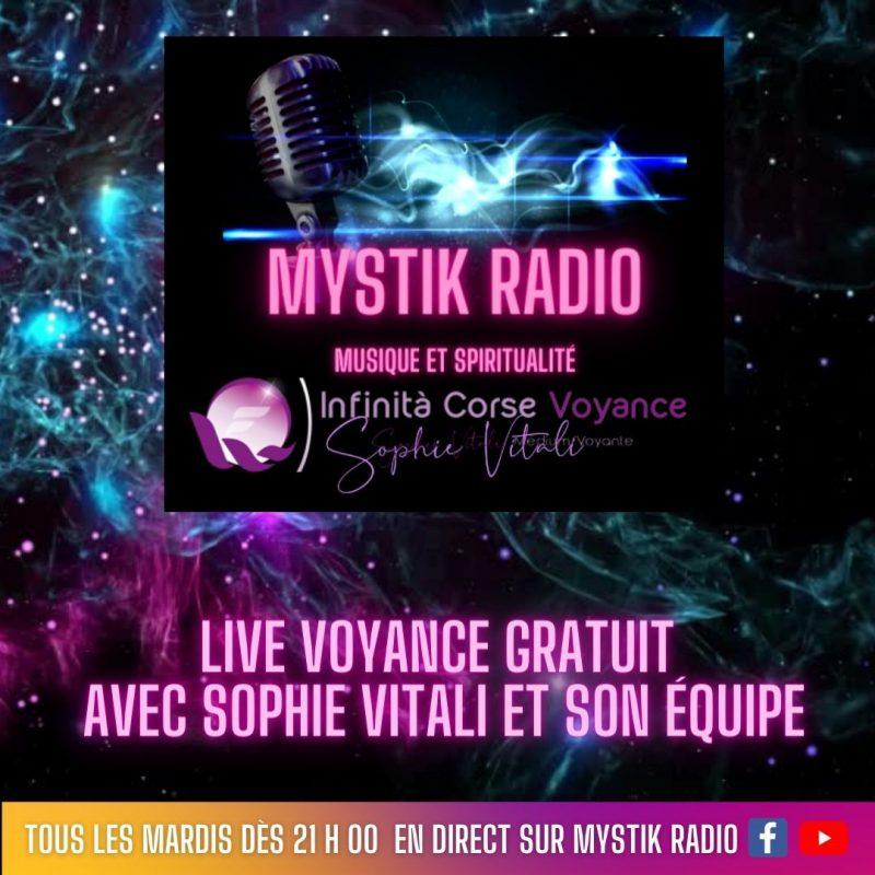Live voyance gratuite sur Mystik Radio / Sophie Vitali