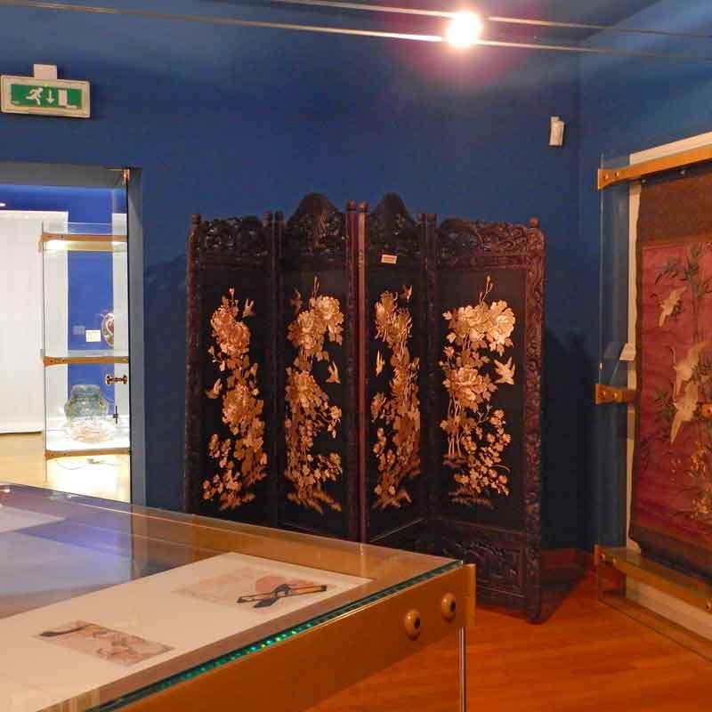 Paravento cinese al Museo d'Arte Orientale di Trieste