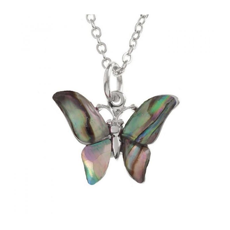 Conchiglia di Paua collana farfalla