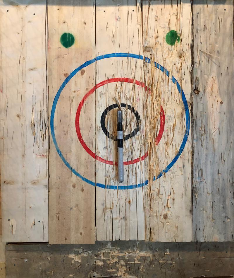 Bullseye at Forged Axe Whistler