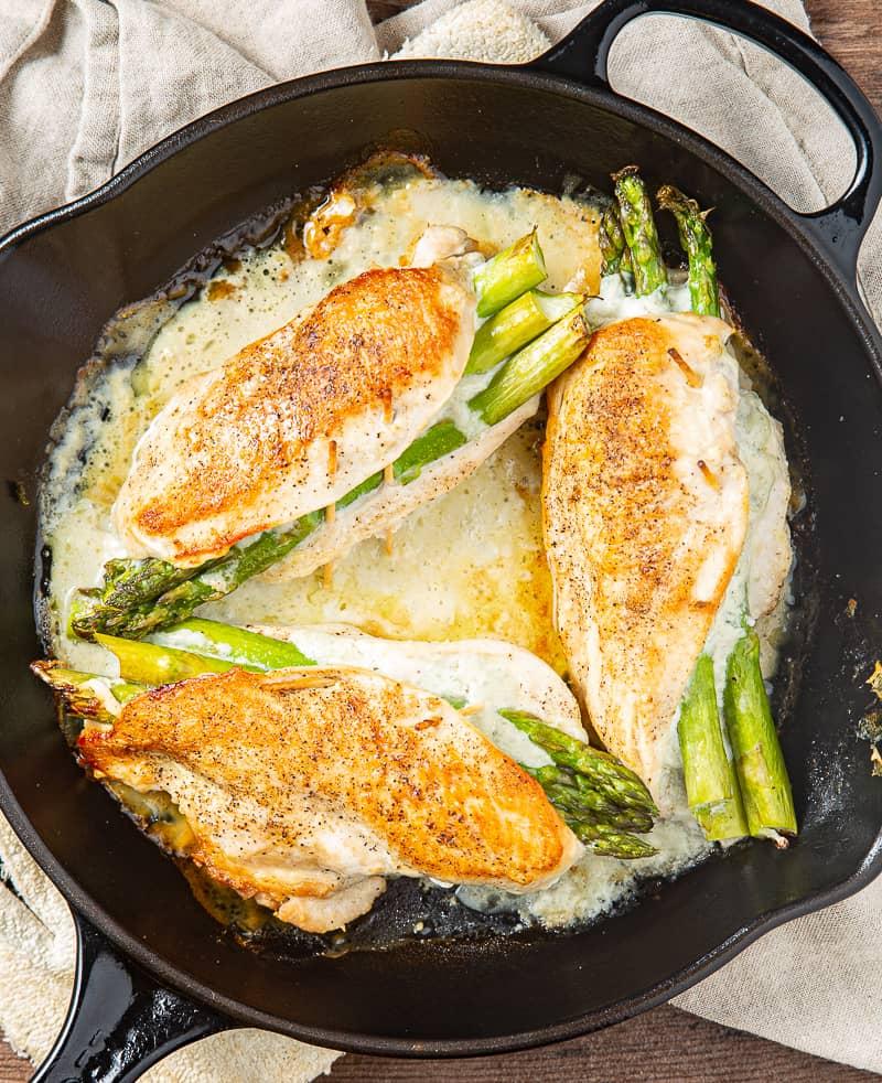 blue cheese asparagus stuffed chicken