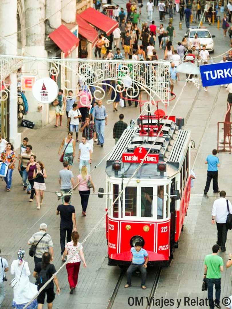 que-visitar-en-Estambul-Tranvia-de-la-Nostalgia