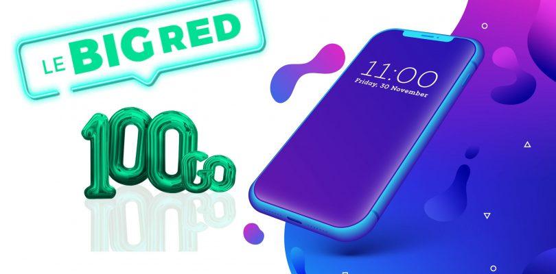 RED by SFR : BIG RED 100GO pour 12€ par mois