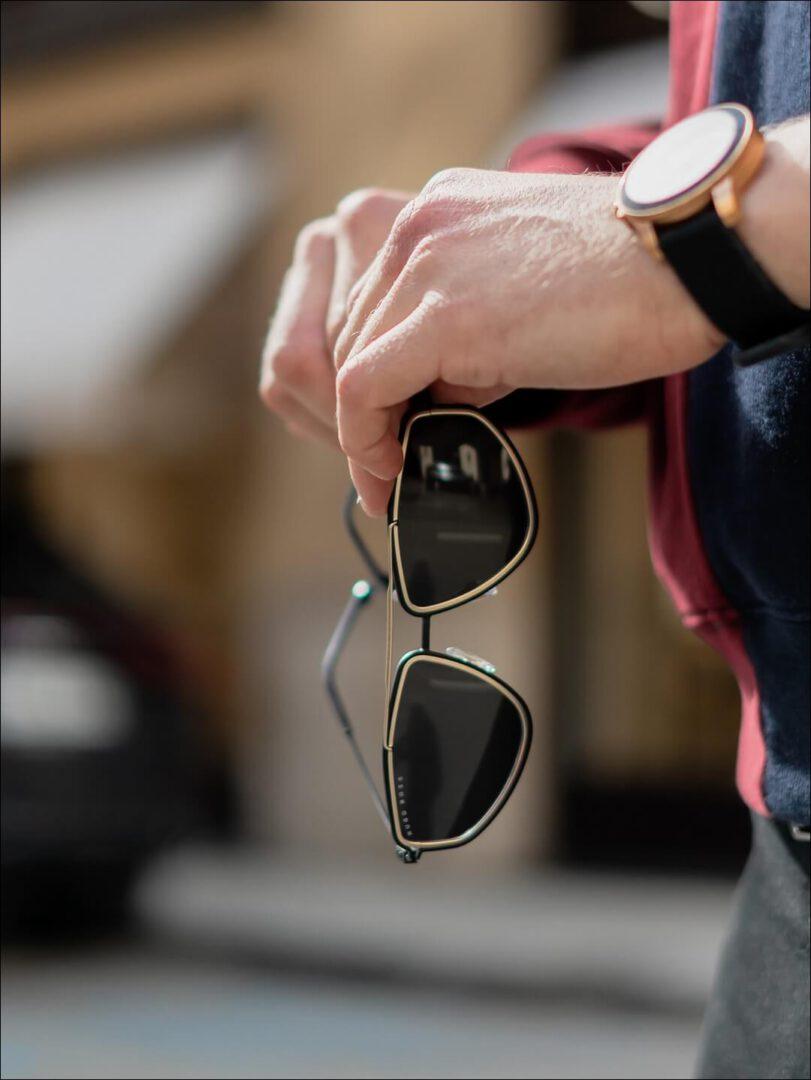 futuristischer Style der BOSS Sonnenbrille