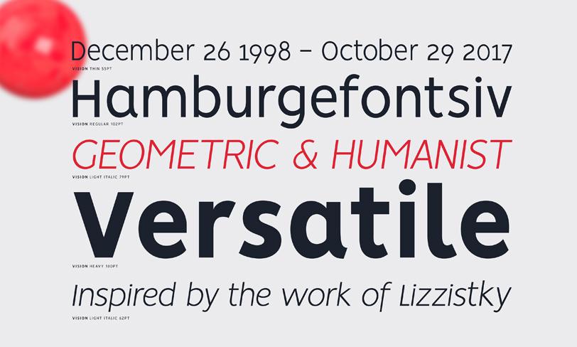vision darmowa rodzina fontów