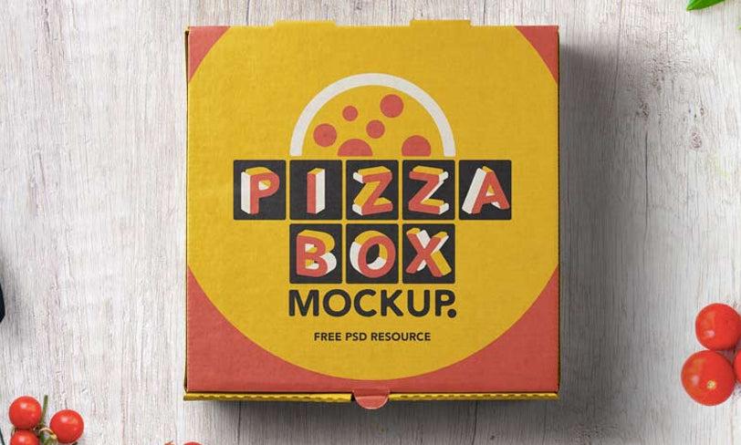 darmowy mockup karton pizzy