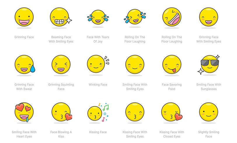 darmowy zestaw emoji