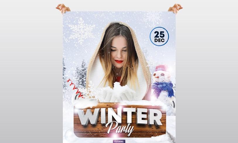 zimowa impreza darmowy plakat