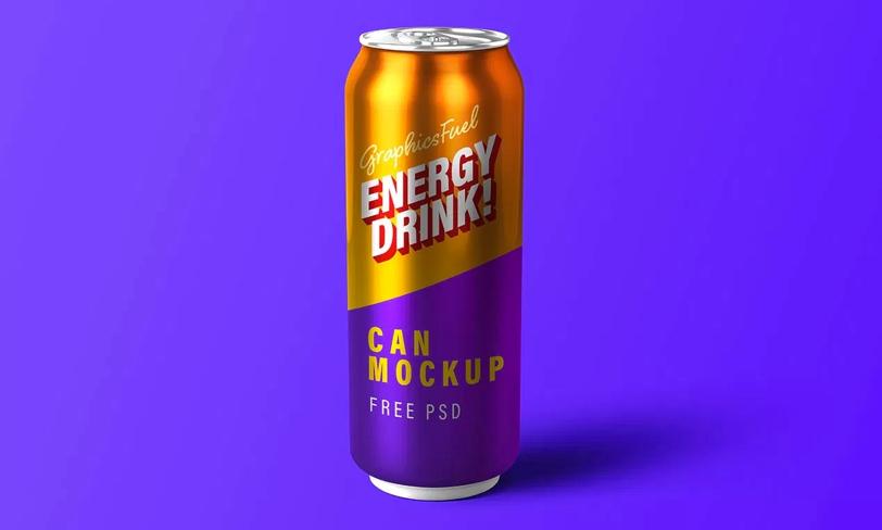 darmowy mockup puszki energetyka