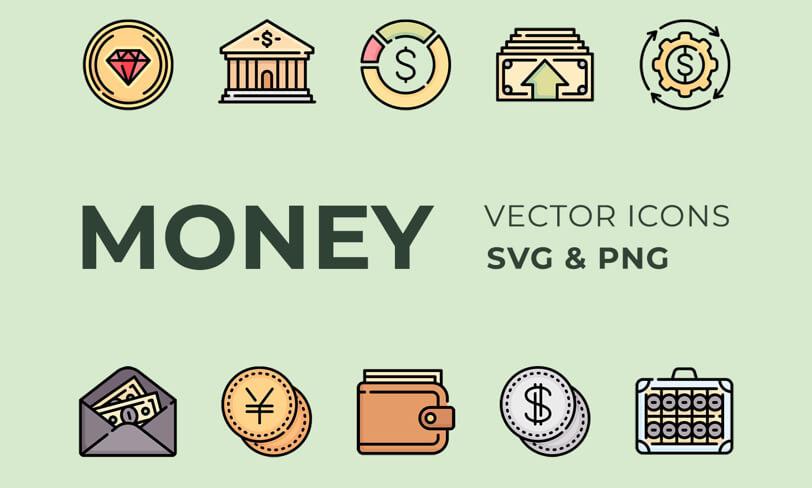 darmowe ikony pieniądze