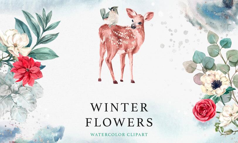 darmowe zimowe ilustracje