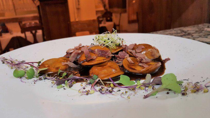 restaurante italiano valencia cinquecento lunette al foie grass