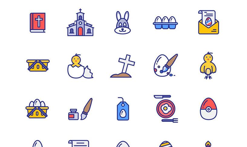 darmowe ikony wielkanoc