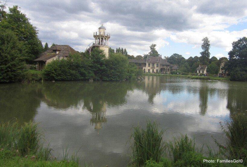 Maire antoinette's hamlet at versaille, outside of paris