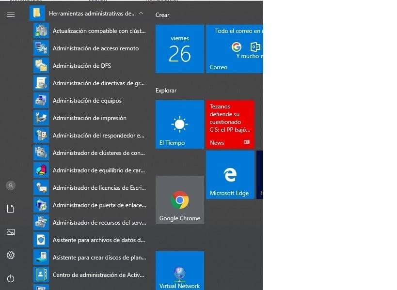 localalizar Herramientas Administrativas Windows consolas Instaladas