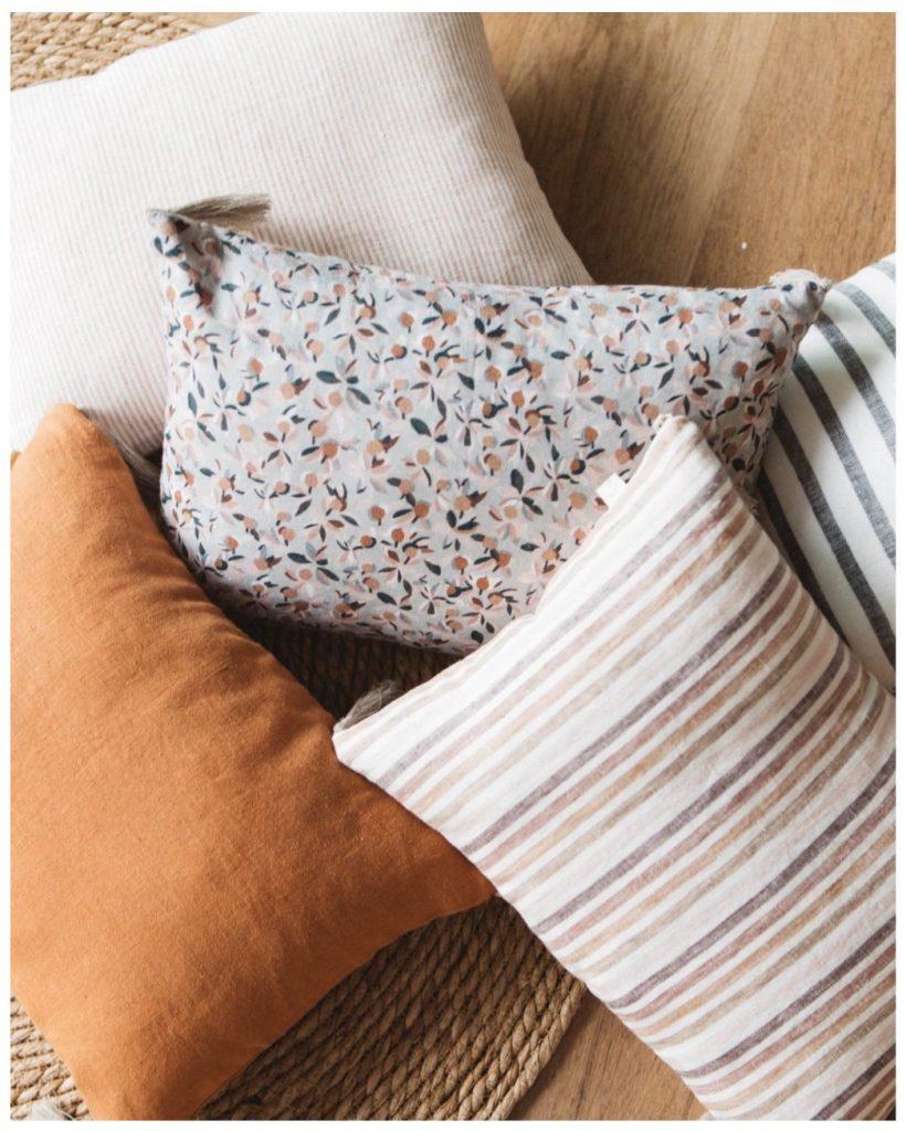 "Poduszki i materace z pranego lnu ""Respire"" | design- GABRIELLE PARIS"