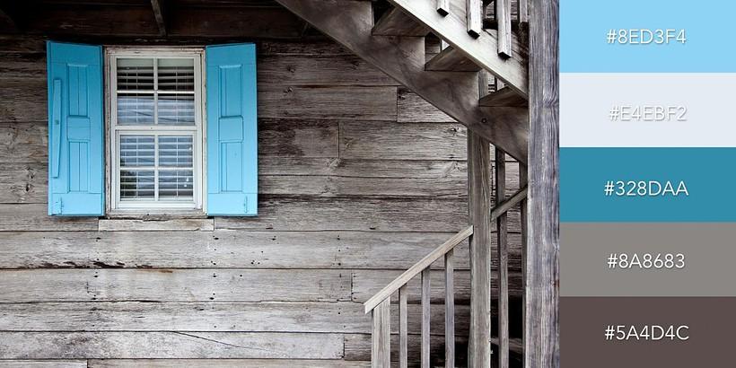 Cách kết hợp màu sắc đầy bắt mắt với màu xanh nổi bật trên nền xám