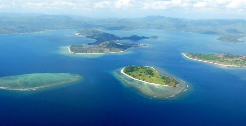 Photo aérienne îles Gili Lombok
