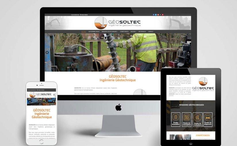 Création d'un site internet pour un bureau d'études d'ingénierie géotechnique