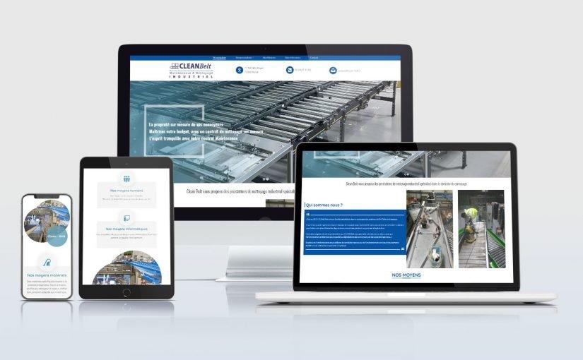 Création d'un site internet société spécialisée dans le nettoyage des convoyeurs