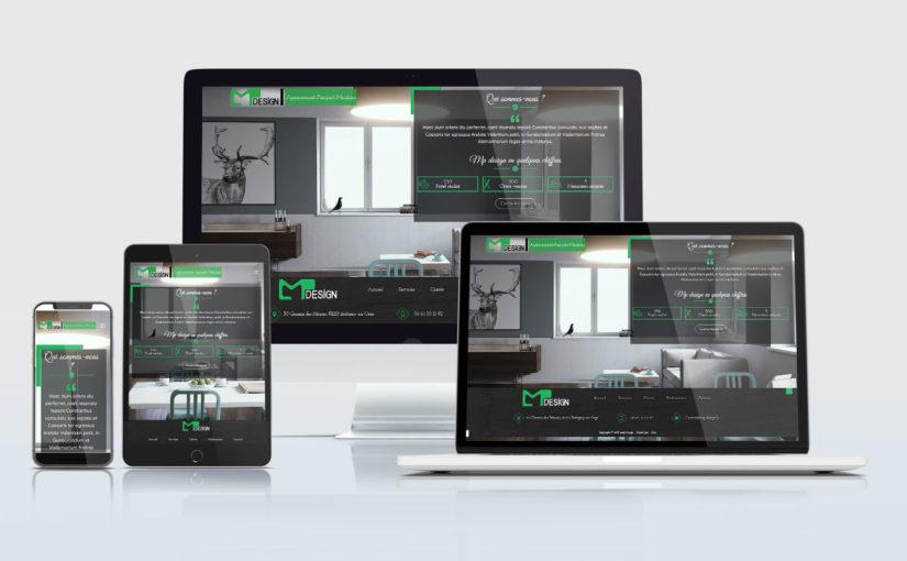 Création d'un site internet pour une société spécialisée dans l'agencement, parquet et meubles