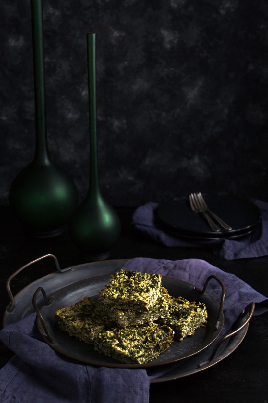 Quinoa,Spinach and Katiki Bake