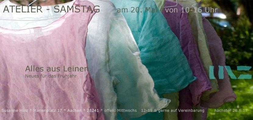 Atelier-Samstag am 20. Mai 2017 - Alles aus Leinen