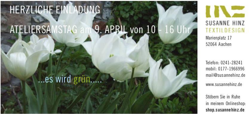 Atelier-Samstag am 9.4.16 - Neue Farben für das Frühjahr