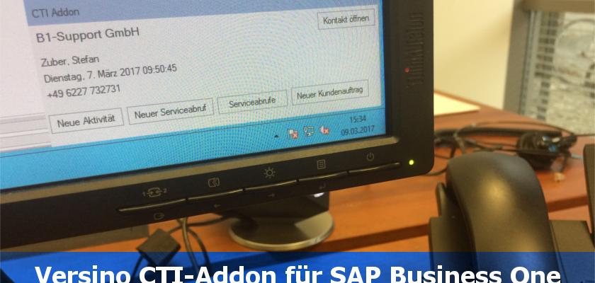 SAP Business One CTI Add-on. Mehr Servicequalität durch eine integrierte Telefonanlage.
