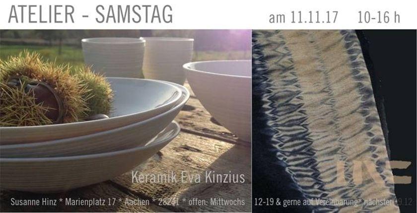Atelier-Samstag am 11. November 2017 - Keramik und erdigfarbene Wollschals