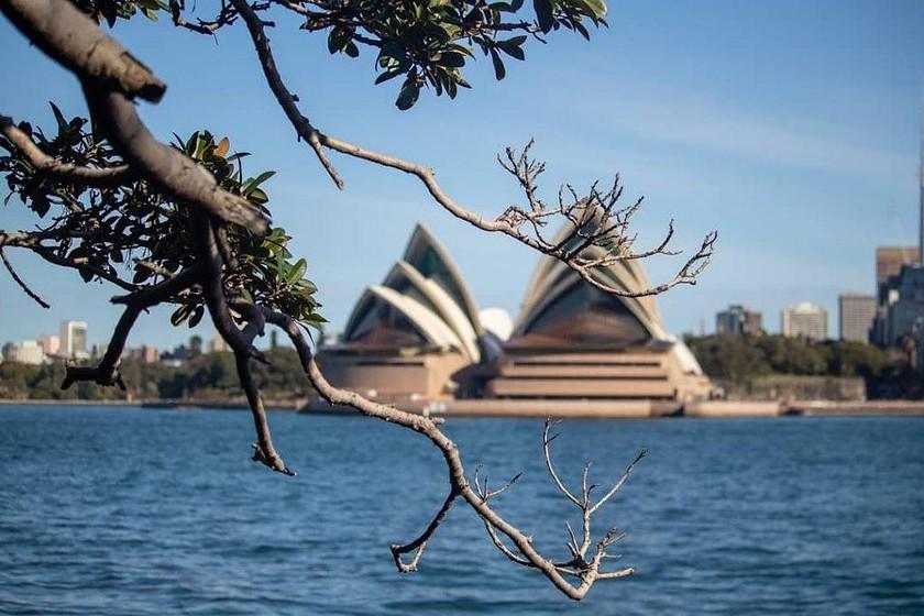 Sydney Opera House from across the harbor