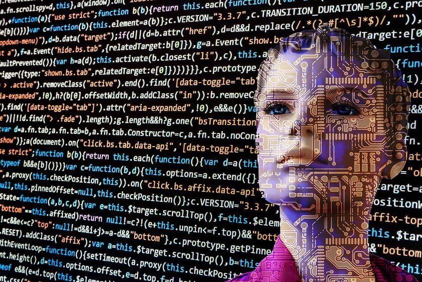 Alegoria sztucznej inteligencji poprawiającej gramatykę