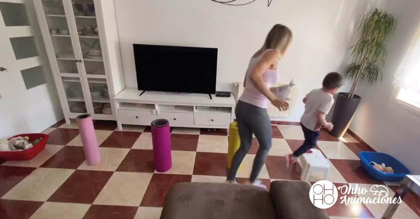 ejercicio en casa de actividades para niños