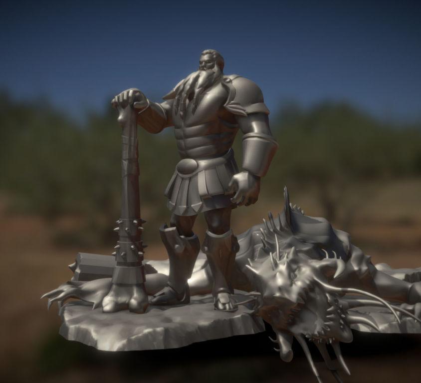 Ancient Hero Statuette