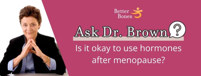 Hormones after menopause