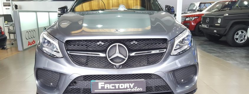 Frontal Mercedes-Benz GLE 43 Coupe AMG