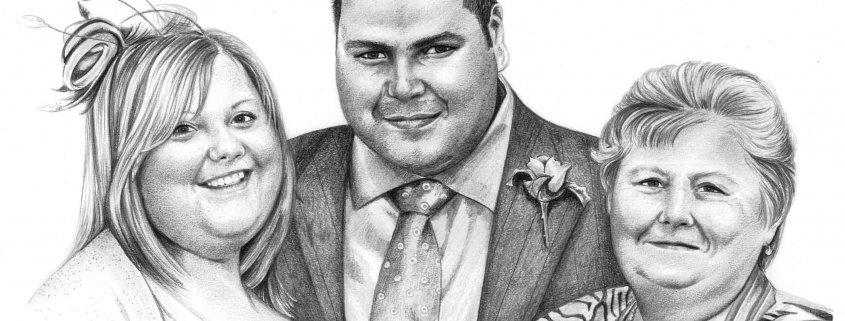 Drawing of Family at Wedding