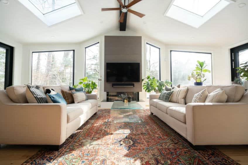 living room skylights-atlanta skylights-renovation