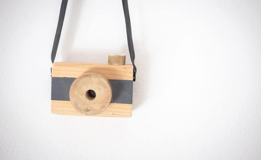 DIY Spielzeugkamera aus Holz einfach selbermachen