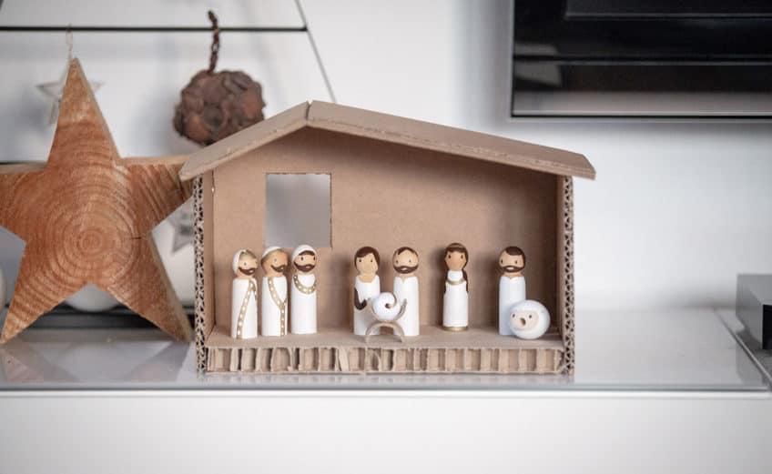 Kindertauglliche Weihnachtskrippe DIY
