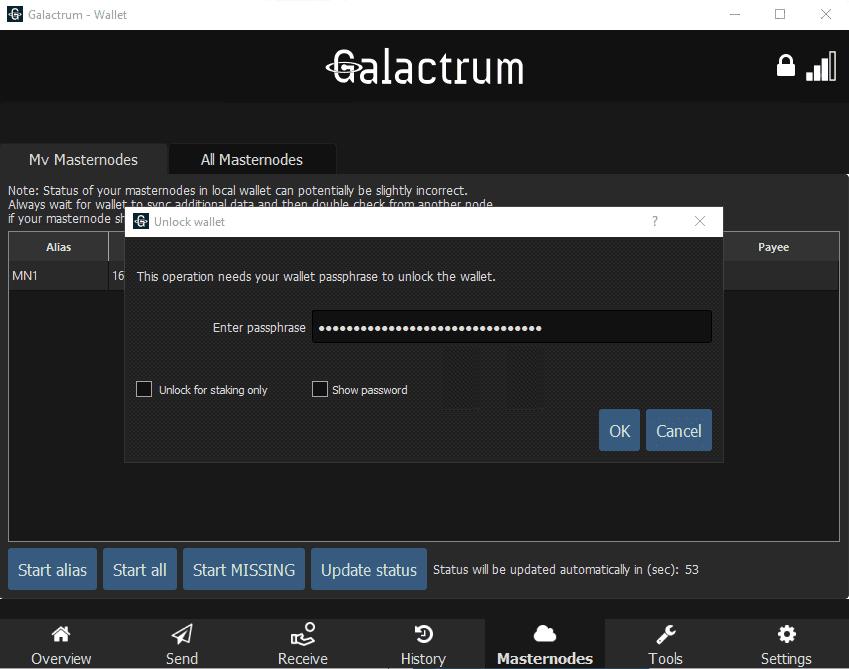 Galactrum - Masternode Setup - Windows VPS