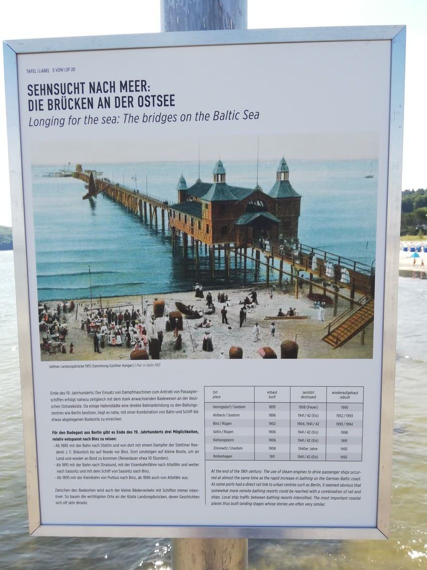 Seebrücke Binz um 1913: Freiluftausstellung auf der Seebrücke der Kurverwaltung