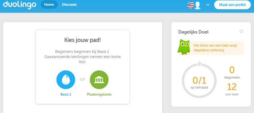 Duolingo is streng: als je een doel niet haalt kun je niet verder.