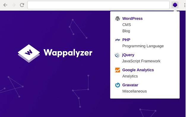 Wappalyzer SEO Chrome Extensions