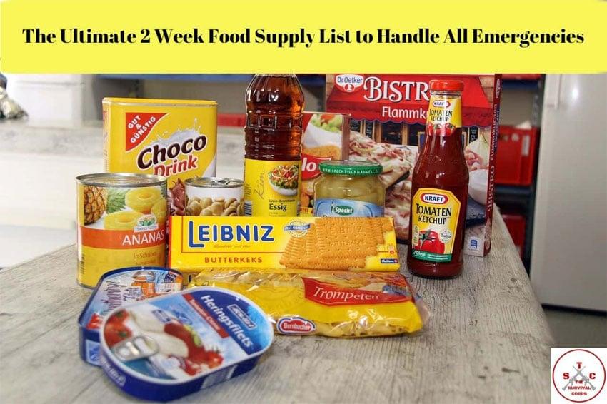 2 week food supply list