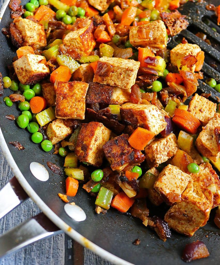 Cumin Coriander Spiced Tofu Veggies